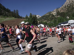 the start (rundixie) Tags: usa mountain america tahoe running run squawvalley runners olympics mountainrun 2000ft