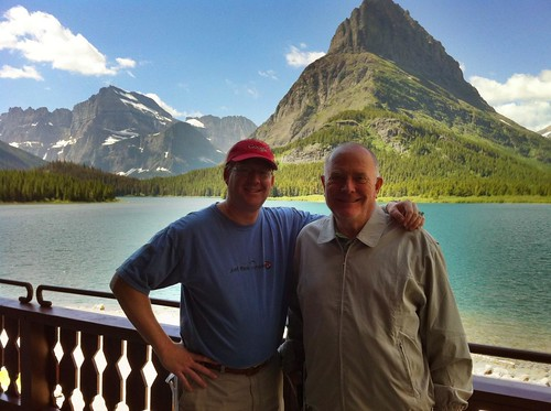 With Dad at Many Glacier Hotel