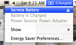 Apple Laptop Battery Error: Service Battery Warning
