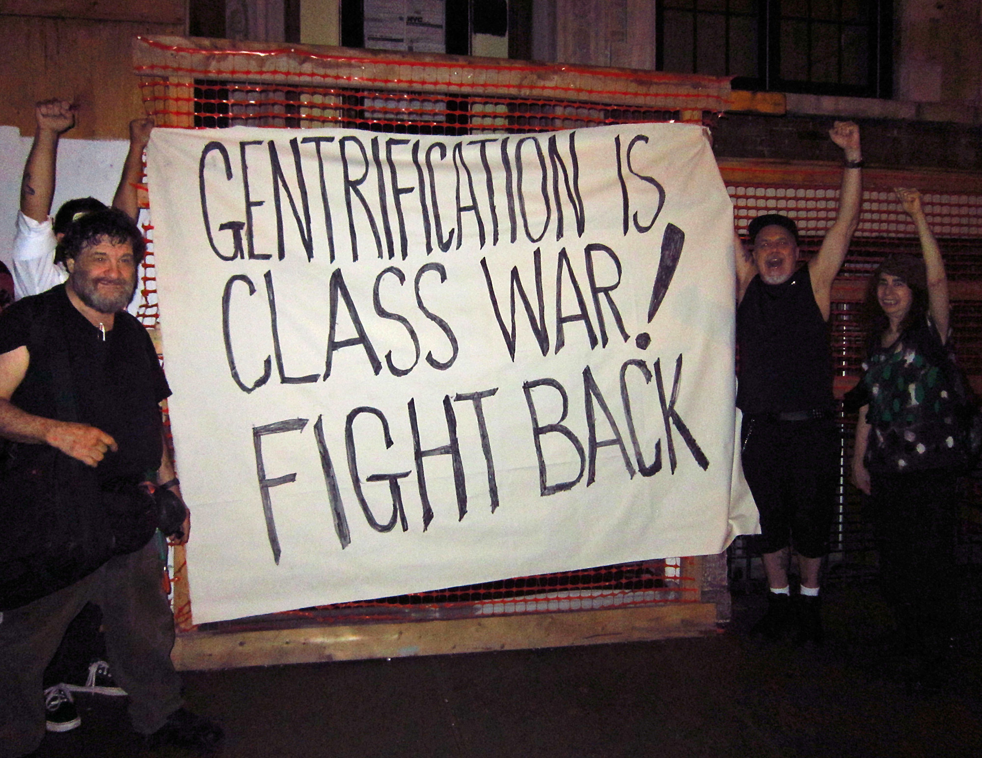 Protest against gentrification