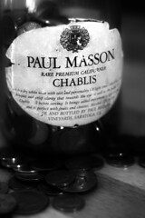 Chablis (Katelyn Kenderdine) Tags: old writing canon paul photography wine coins antique collections jar xsi chablis masson