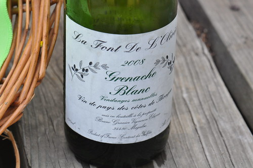 a bottle of Grenache Blanc