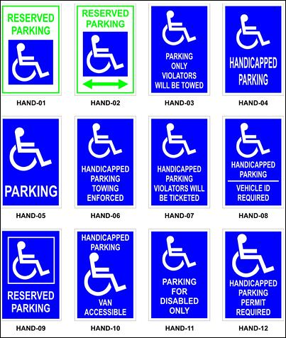 Handicap Sign Image