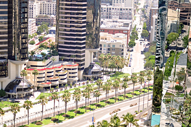 downtown san diego + view from the Marriott Marquis and Marina hotel