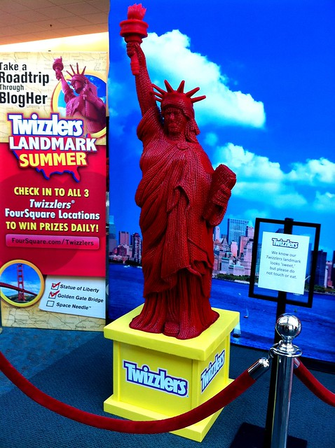 Statue of Liberty made of Twizzlers
