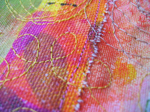 Painted & sewn - detail 2