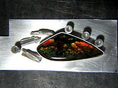 Baroque ammolite pendant 3 (JazznJewelry) Tags: silver jewelry ammonite sterling pendant ammolite
