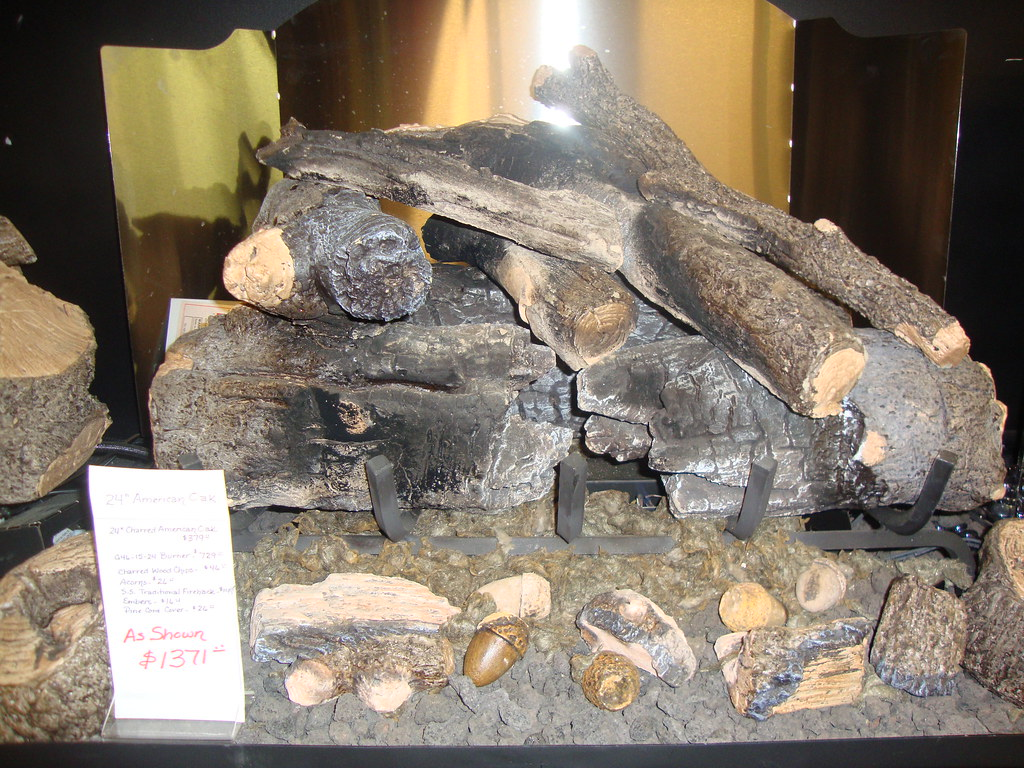 American Oak Gas Log