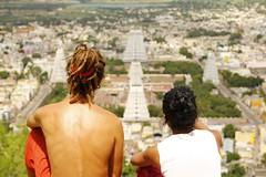 Gopuram View - Thiruvannamalai (Natesh Ramasamy) Tags: india mountain slr canon temple photography photo couple god picture pic lord holy kanda cave meditation seek spiritual shiva siva lingam canoneos tamil swami tamilnadu ashram seshadri skanda ramana gopuram tiruvannamalai foreigner maharishi thiruvannamalai natesh ramasamy canoneosslr deepam lifeisart annamalai 550d renounce girivalam t2i annamalaiyar swamigal canon550d canont2i kissx4 canonkissx4 indiaimpressions ramnaganat
