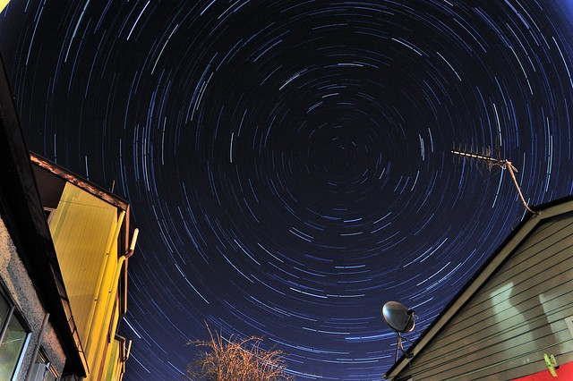 Startrails at Home's Backyard.