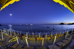 FishNight (Angelo Pesce Ischia) Tags: blue sea moon beach night nikon yacht angelo 8mm hdr pesce maronti samyang d5000