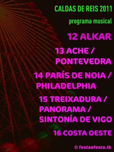 Caldas de Reis - Festas patronais - programa musical