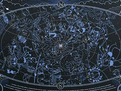 Hemisphere_boreal_close (bombsfall) Tags: blue black print star screenprint space constellations cosmos solarsystem constellation myths starchart