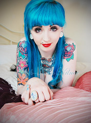 Sinead Kilpatrick (LeighAnnxo) Tags: blue girl hair tattoos piercings sinead alternative kilpatrick