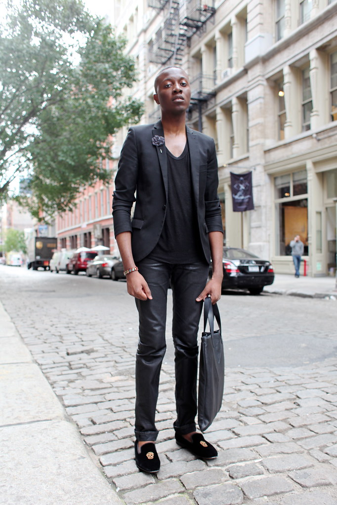 Alexander McQueen Slippers + Dior Homme Jeans + YSL Tote - Man Morsel Monday streetstyle fashion blog new york
