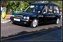 W.A Truelove Jaguar hearse FS08WAT   Sutton Green 30/09/11. (Ledlon89) Tags: london death transport surrey funeral local jaguar hearse sutton undertaker funeraldirector alltypesoftransport