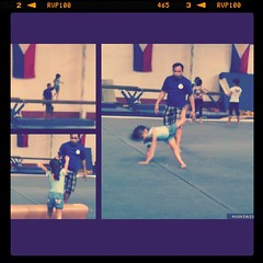 First day in Gymnastics class & she is having a blast. Pano bagay na bagay sa kalikutan nya. Lol