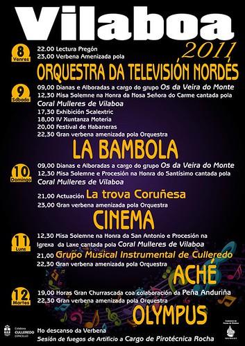 Culleredo 2011 - Festas de Vilaboa - cartel