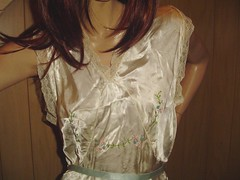 Vintage Satin Nightgown (satingirlz3) Tags: vintage glamour lace lingerie satin nightgown