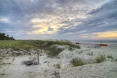 HDR Beach Scene 2 (michaeledunn2457) Tags: sky beach sunrise island sand head dunes hilton plantation shipyard hdr