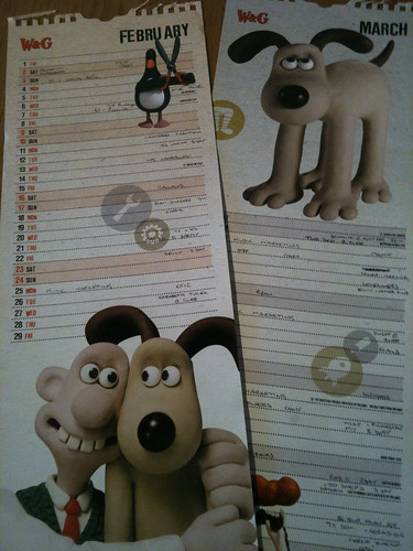 Calendars, Feb and March 2008