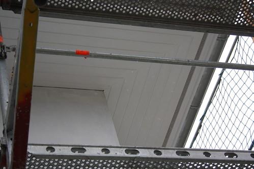 Gestricher Unterschlag / Ecke zur Garage