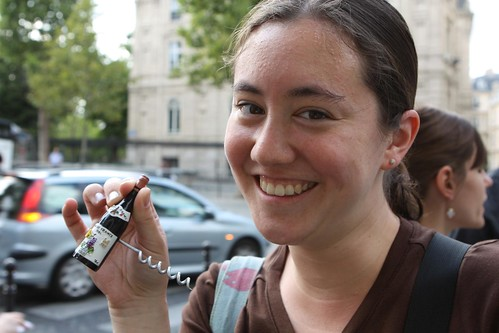 Elisha with World's Most Expensive (and Tacky) Wine Opener