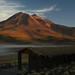 Pôr-do-sol na Laguna Miscanti