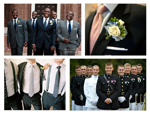 Gray or white tuxedos are strictly wedding attire whereas black tuxedos