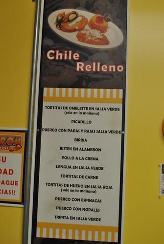 menu signange