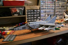 foxbat (psiaki) Tags: plane airplane war force lego military air union jet aeroplane 25 soviet mig interceptor gurevich supersonic mikoyan moc mig25 foxbat