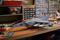 foxbat (psiaki) Tags: plane airplane war force lego military air union jet aeroplane 25 soviet mig interceptor gurevich supersonic mikoyan moc mig25 foxbat