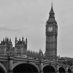 (Stefano Olivier R.) Tags: blackandwhite london bigben midday westminsterbridge