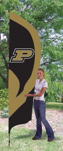 Purdue Boilermakers Tall Feather Flag