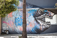 Shark Toof Culver City (B.Land) Tags: streetart graffiti washington losangeles bland spraypaint culvercity sharktoof