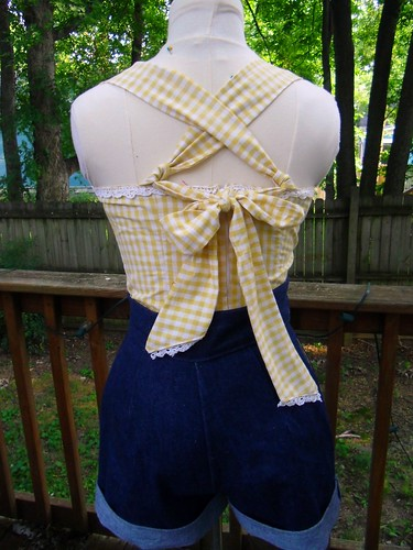 gingham halter back
