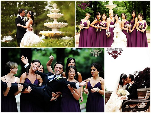 Hanover Manor Wedding, Glamorous Bride, Pninia Tornai bride, glam bridal jewelry, elegant purple bridesmaid dresses