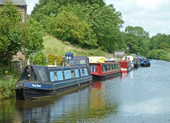 Narrowboats in the Leeds and Liverpool Canal by Tim Green aka atoach