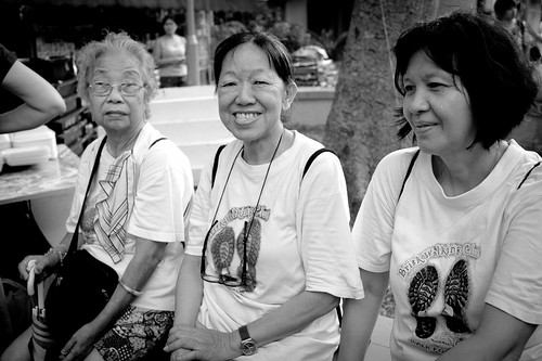 Elderly ladies who had walked the tracks in the past