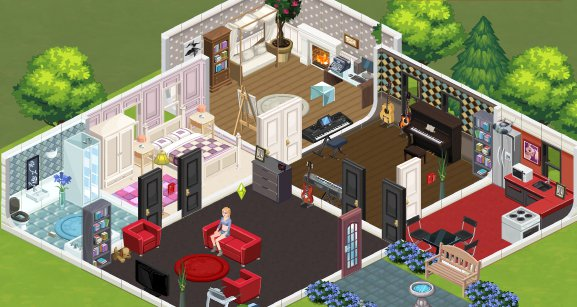 The Sims Social Beta Build a House