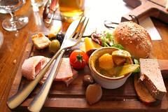 ploughman's lunch at Ebrington Arms, Gloucs (SeppySills) Tags: england cotswolds gloucestershire cheddar publunch ploughmanslunch chickenliverterrine