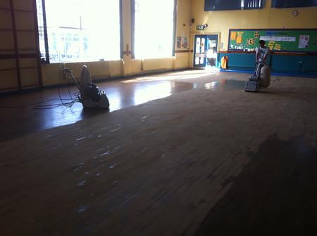 School Dining Hall Iroko Parquet 1