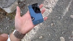 Nokia C7 versus iPhone Drop Test - shattered iPhone4 - 05282011004