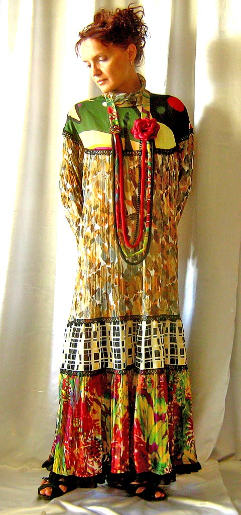 Fashion boho gypsy colorful dress, 1 size to fit multiple size