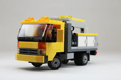 Cabover Cherry Picker 1 (legotanks) Tags: truck cherry lego cube picker cabover