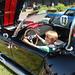 VROOM! Jennie pilots an AC Cobra at a  car show in Clayton. Photo by John Sherman, Barneveld NY.