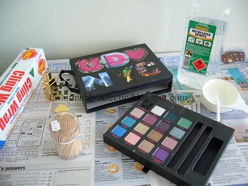 Repairing broken eyeshadow - setup