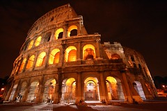 Colosseum By Night (photographerglen) Tags: city travel summer vacation italy rome roma history night canon italian ancient europe italia nightshot roman euro historic colosseum travelphotography hoilday romenight worldicon photographerglen colosseumatnight