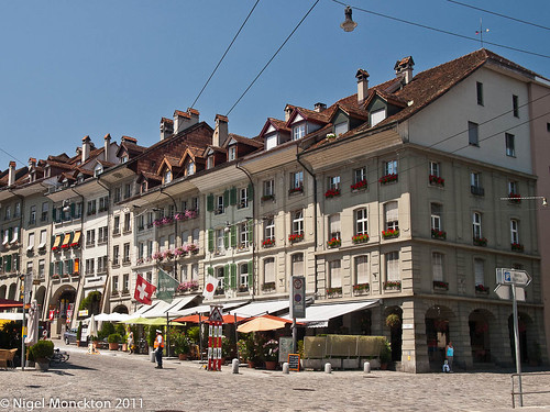 The far end of Kramgasse, Bern