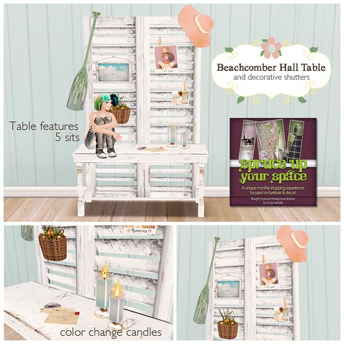 Beachcomber Hall Table & Decorative Shutters for SUYS